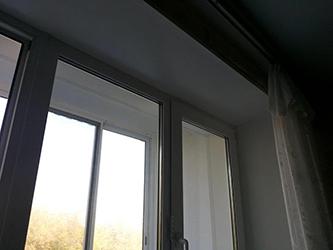 Штукатурка окна после установки